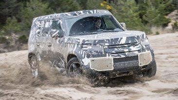 Pruebas desarrollo Land Rover Defender