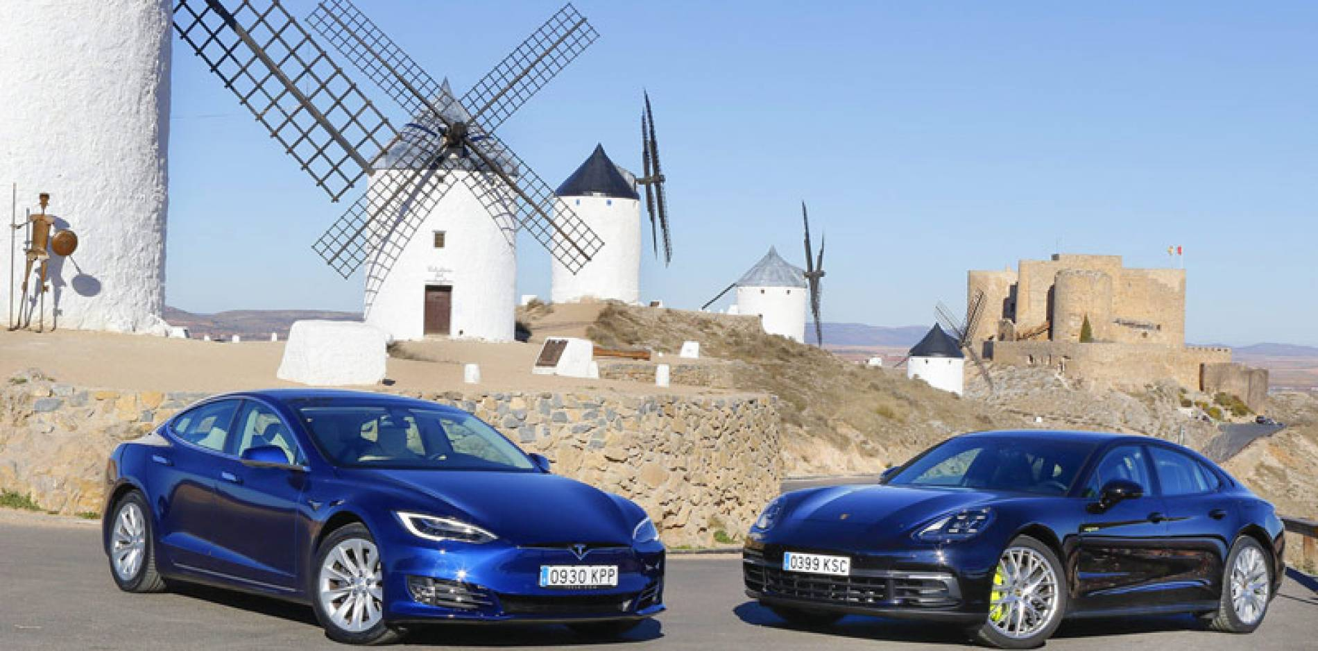 Comparativa ecológica: Tesla Model S 100D vs Porsche Panamera 4 E-Hybrid