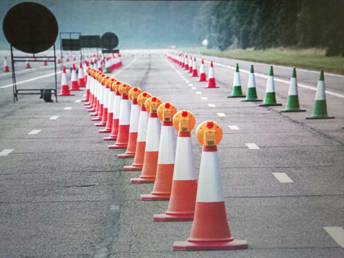 carril adicional carretera