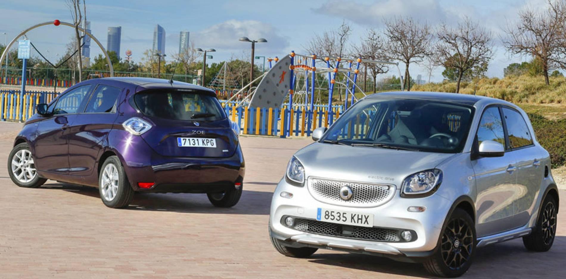 Comparativa eléctrica, Renault ZOE vs smart fourfour