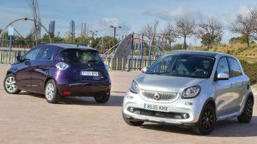 Comparativa Renault ZOE vs smart forfour