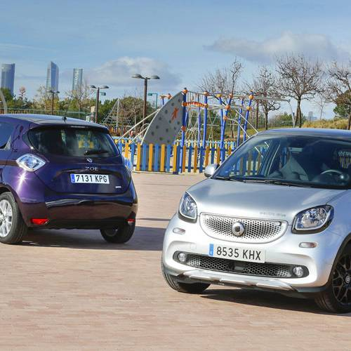 Comparativa eléctrica, Renault ZOE vs smart fourfour