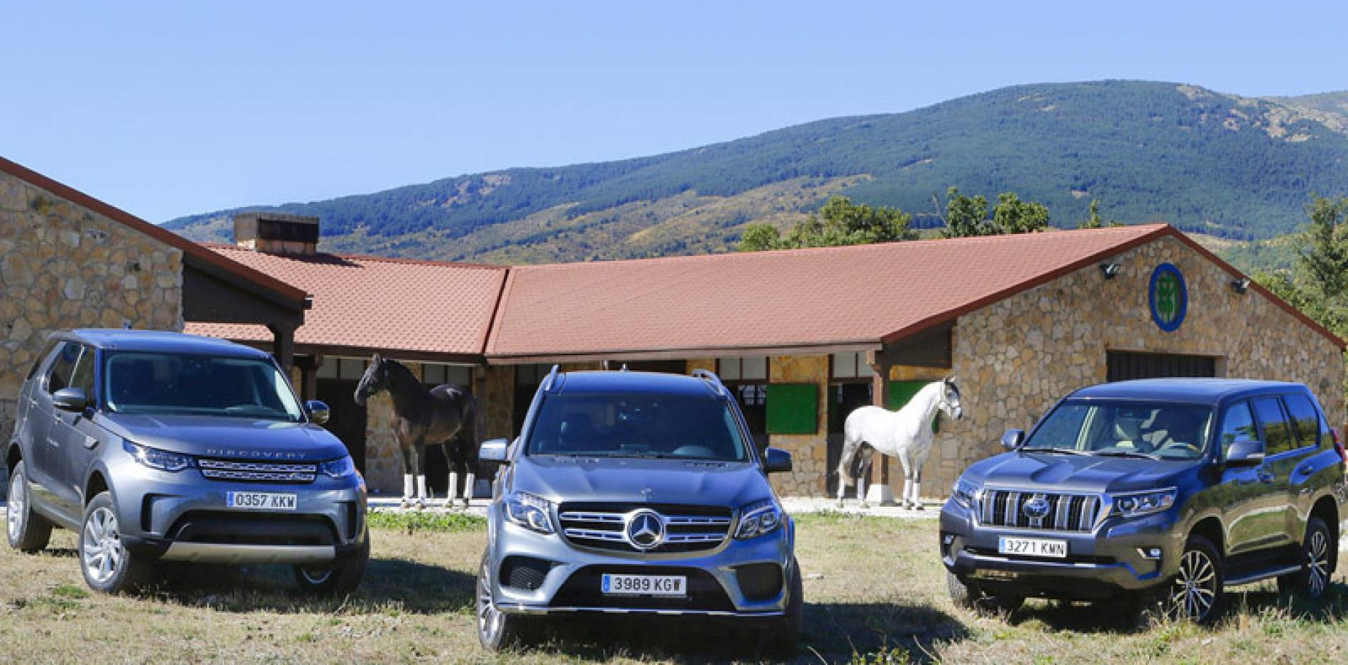 Comparativa de todoterrenos de verdad: Land Rover Discovery vs Toyota Land Cruiser vs Mercedes-Benz GLS