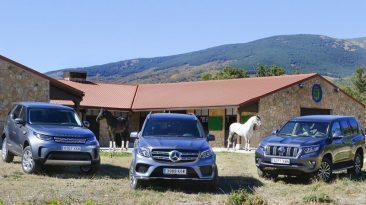 Comparativa Toyota Land Cruiser vs Mercedes-Benz GLS vs Land Rover Discovery