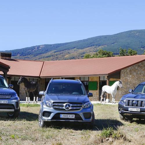 Comparativa de todoterrenos de verdad: Land Rover Discovery vs Toyota Land Cruiser vs Mercedes-Benz GLS