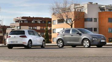 Comparativa Volkswagen e-Golf vs Hyundai Kona eléctrico