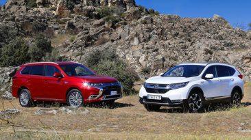 Comparativa Mitsubishi Outlander PHEV vs Honda CR-V Hybrid