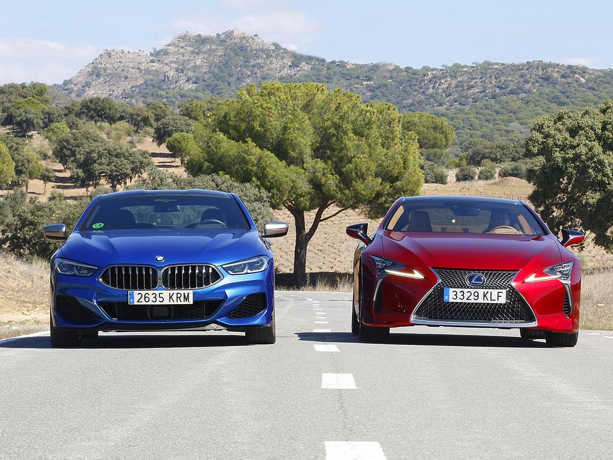 prueba BMW M850i xDrive Coupe frente a Lexus LC 500h