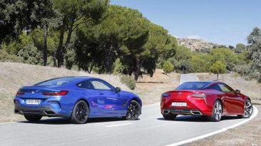 comparativa prueba BMW M850i xDrive Coupe y Lexus LC 500h