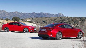 Comparativa Audi A5 Coupé vs Lexus RC
