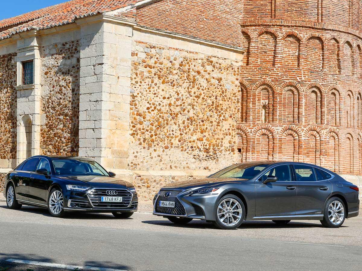 Lexus LS 500h y Audi A8 L