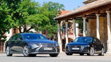 lexus ls 500 h y Audi A8 L 2018