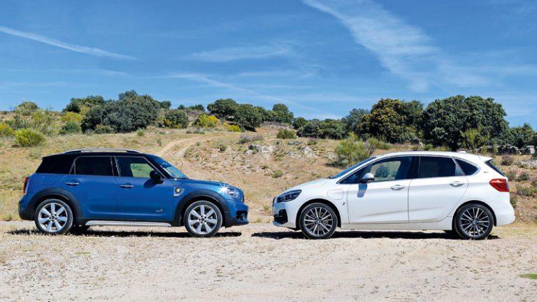 Comparativa BMW 225xe iPerformance Active Tourer vs MINI S E Countryman All4 2019