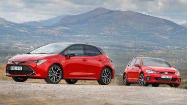 Toyota Corolla Hybrid y Volkswagen Golf GTI Performance