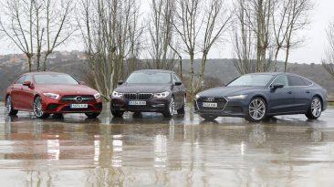Comparativa Mercedes-Benz CLS 350 d 4matic Coupé vs BMW 630d xDrive Gran Turismo 2019 vs Audi A7 Sportback 50 TDi quattro tiptronic
