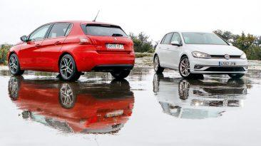 Comparativa Peugeot 308 1.5 BlueHDi Allure vs Volkswagen Golf 2.0 TDI Sport 2019