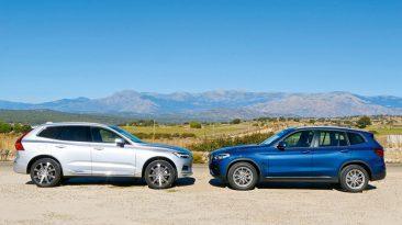 Comparativa Volvo XC60 D3 vs BMW X3 SDrive18d 2019