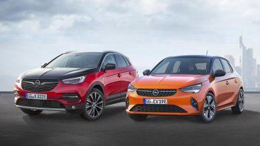 Opel Grandland X Hybrid4 y Opel Corsa e
