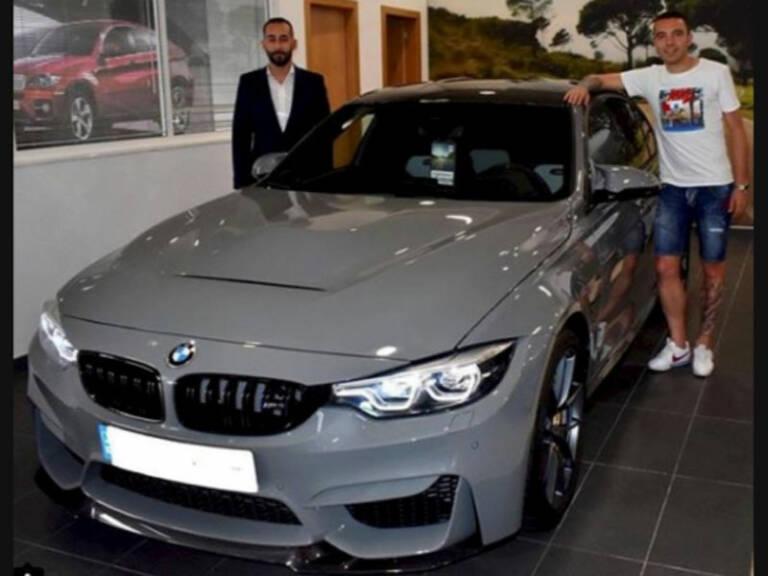 Iago Aspas junto a su BMW M3 CS F80.
