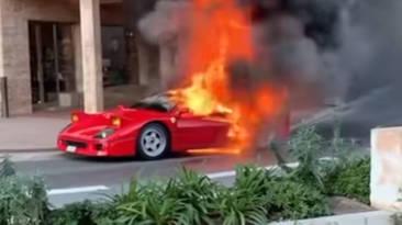 Ferrari F40 arde