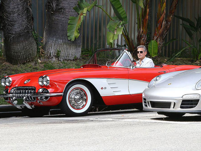 George Clooney - Chevrolet Corvette