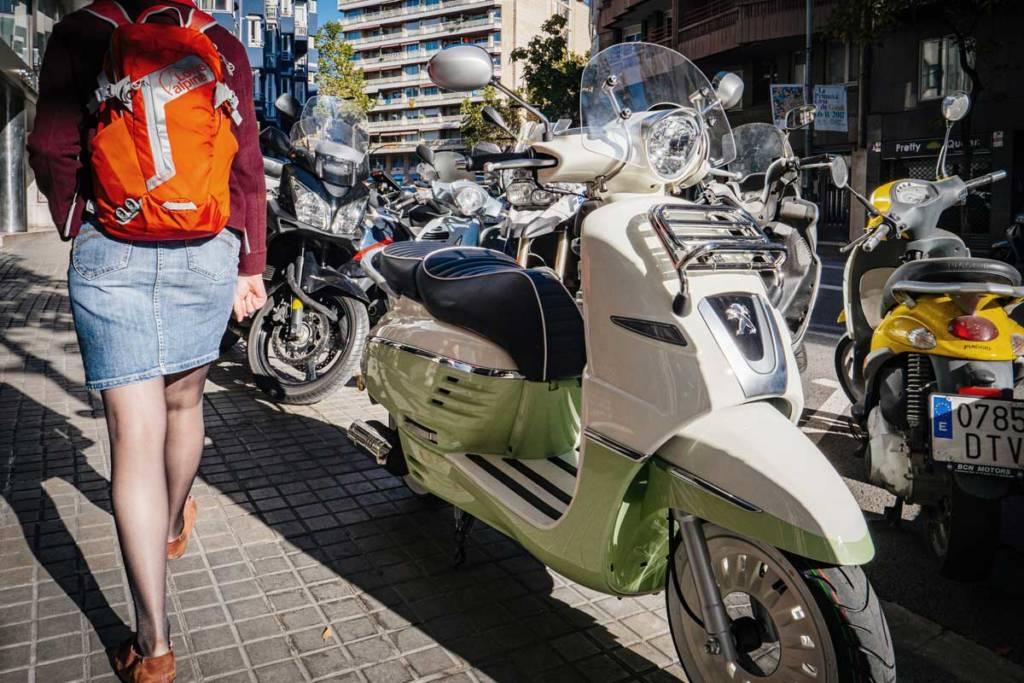 barcelona motos aparcamiento