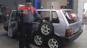coche ocho ruedas vídeo
