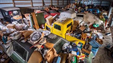 Colección coches clásicos abandonados