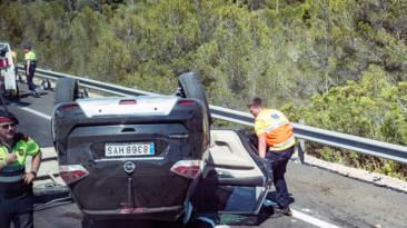 Accidente de tráfico en carretera secundaria