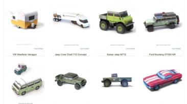 Maquetas de coches de papel