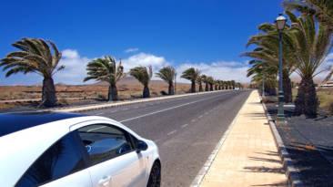 Carretera con mucho viento