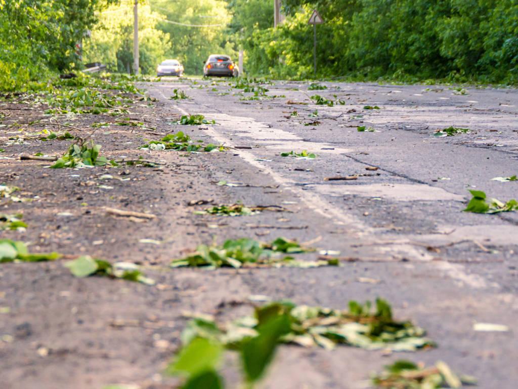 Suciedad en carretera a causa del viento