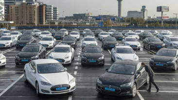Taxis de Tesla Amsterdam