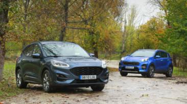 Comparativa Ford Kuga 2.0 EcoBlue MHEV 4X2 Vs Kia Sportage 1.6 MHEV GT Line Extreme 7DCT