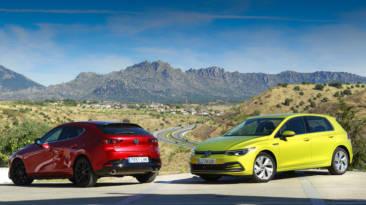 Comparativa Volkswagen Golf Life Vs Mazda3 Zenith Skyactiv-x