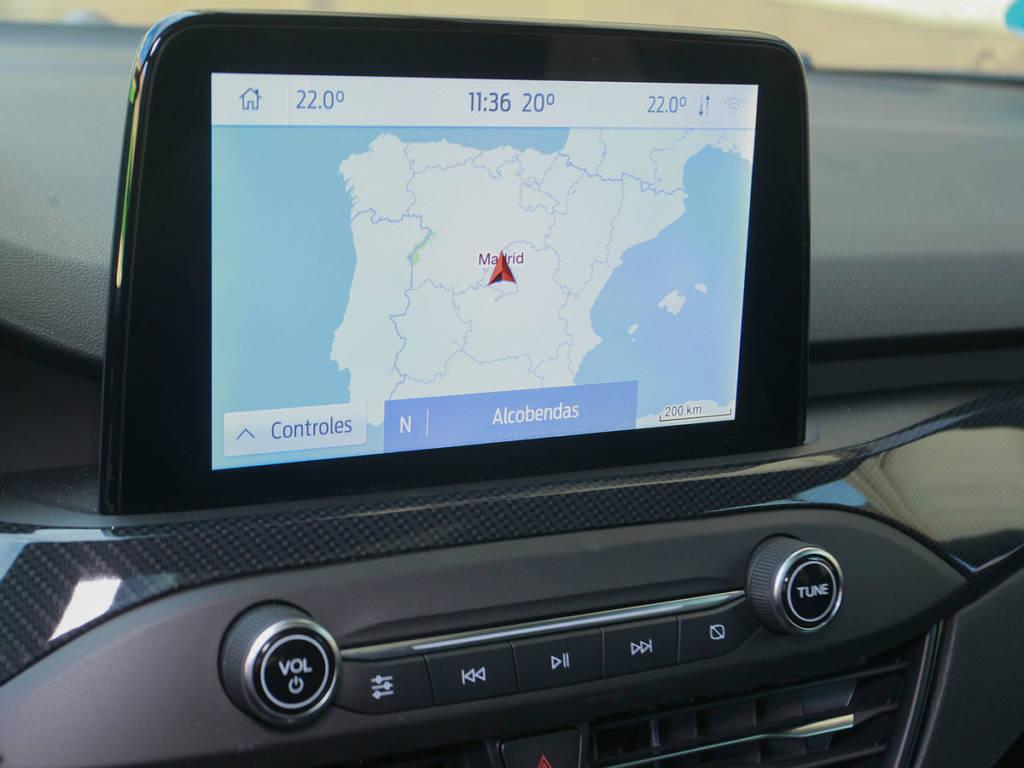 La pantalla táctil del salpicadero del Ford Focus MHEV es de 8 pulgadas
