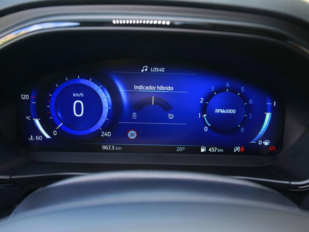 El cuadro digital del Ford Focus MHEV es de 12,3 pulgadas.