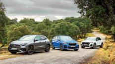 Son los tres SUV compactos del segmento premium de referencia Audi Q3, BMW X1 y Mercedes-Benz GLA