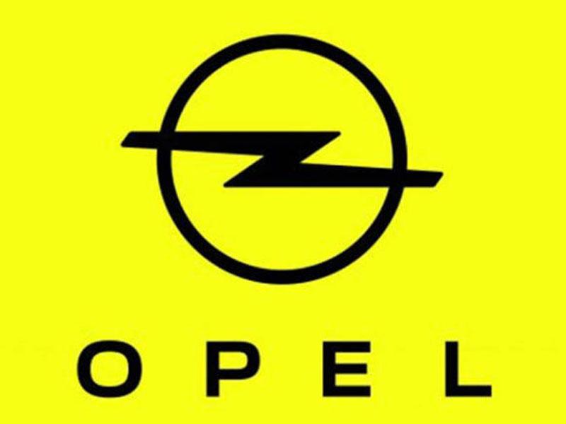 El trueno sigue encerrado en el círculo aunque ahora aparece el nombre de Opel bajo el logo