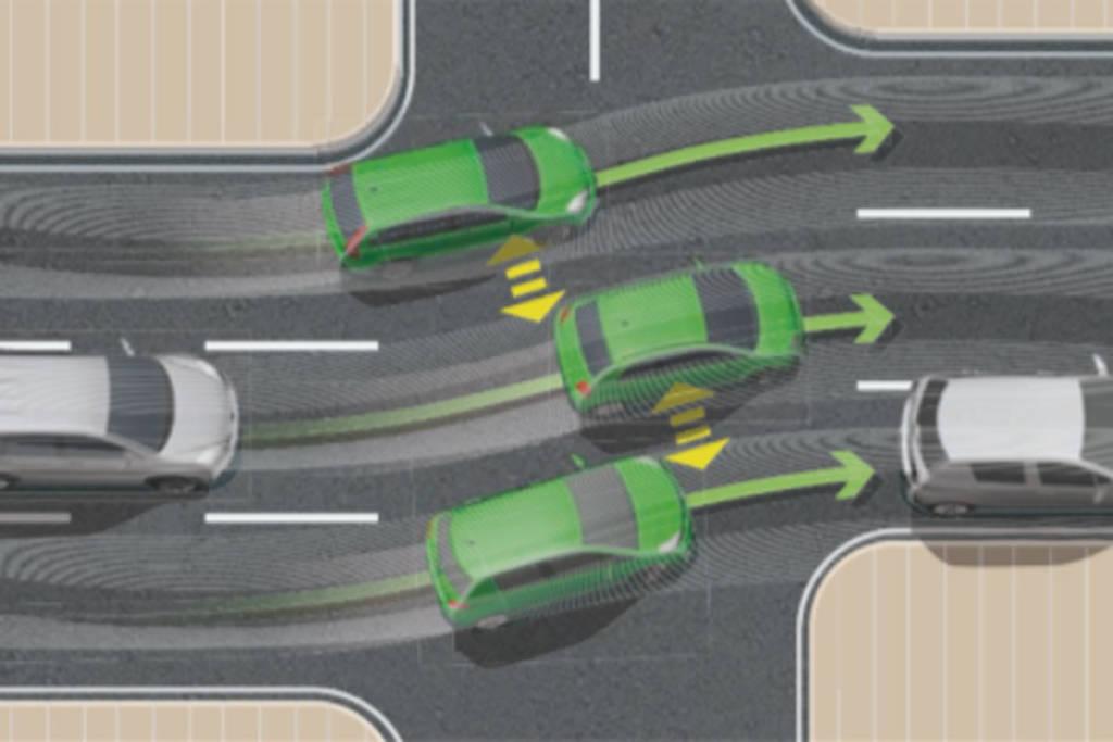 Mantener la posición en los carriles que no están alineados