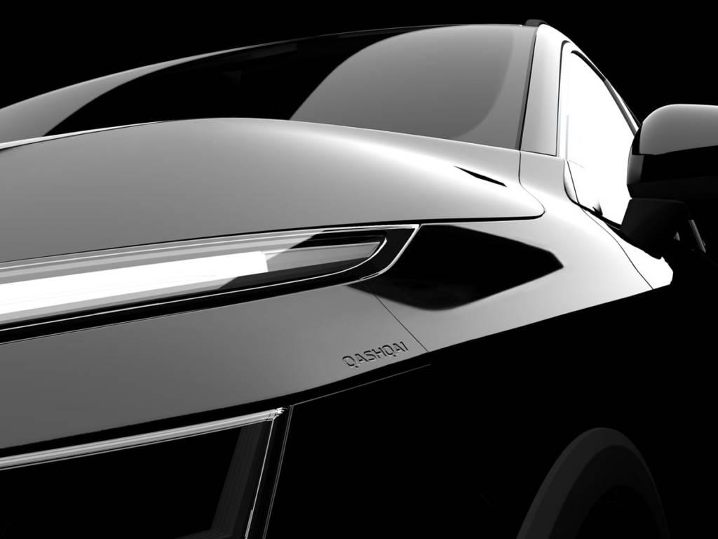 Por el momento del Nissan Qashqai 2021 solo hemos podido conocer parte de los faros y del habitáculo
