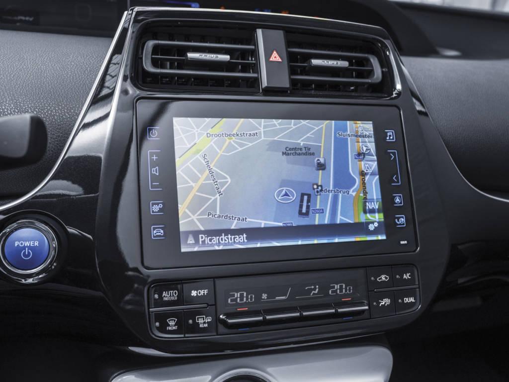 La pantalla central del Toyota prius plug-in 2021 es de 8 pulgadas