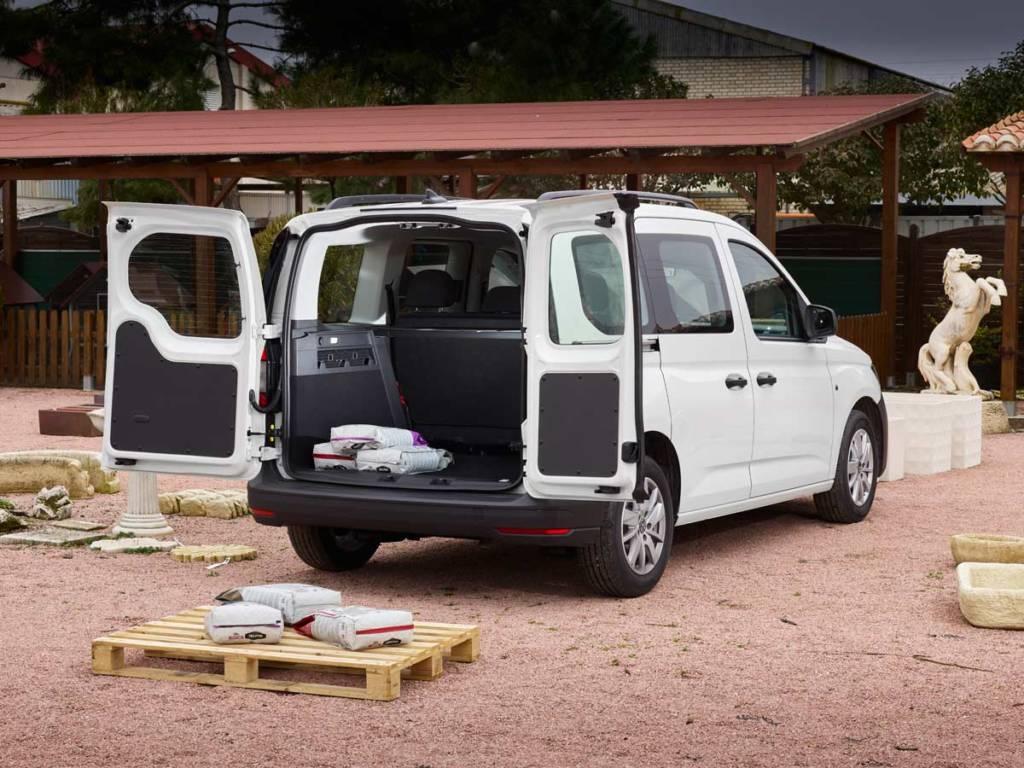 Volkswagen Caddy Kombi maletero cargado