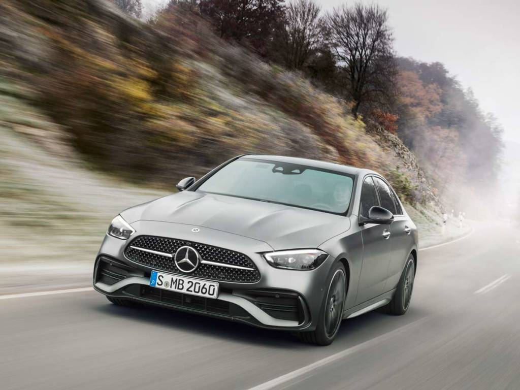 Mercedes-Benz Clase C 2021 frontal gris mate