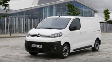 Citroën ë-Jumpy eléctrica frontal en blanco