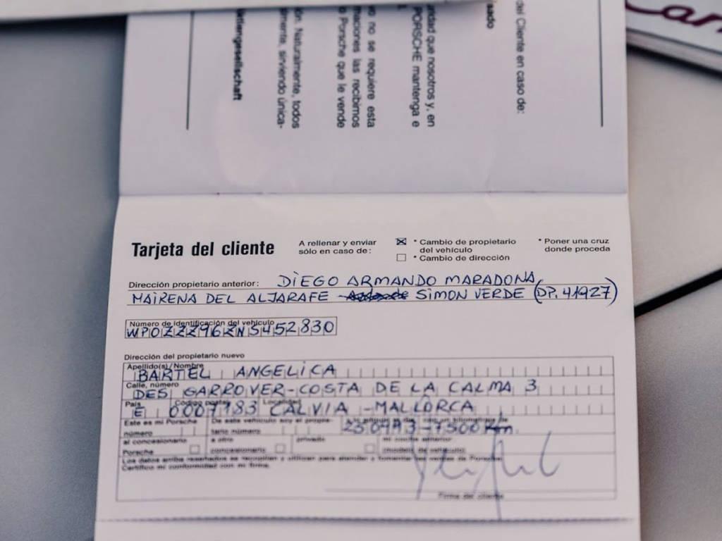 Aquí está la prueba de que perteneció a Maradona.