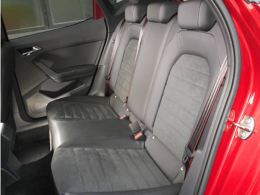 Detalle de los asientos traseros.