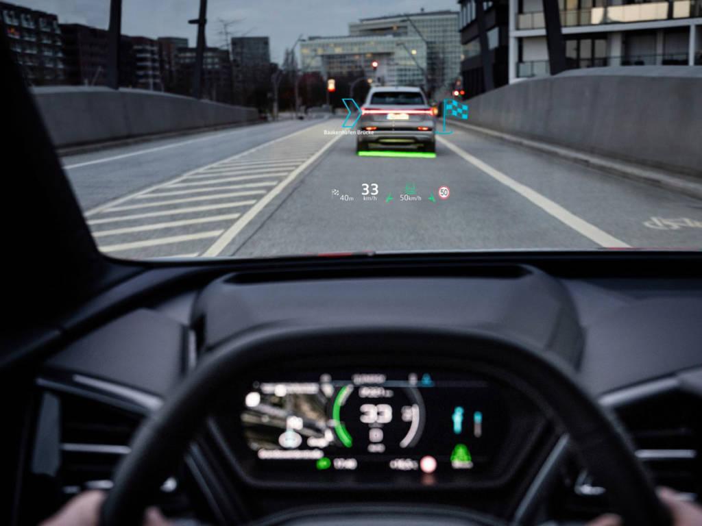 El Head-up display incorpora realidad aumentada