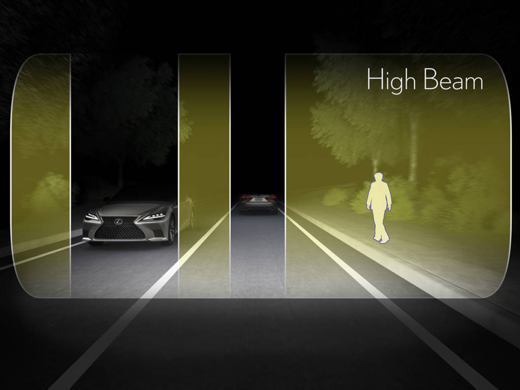 El nuevo Control adaptativo de luces de carretera, AHS, mejora la visibilidad de la carretera y los peatones.