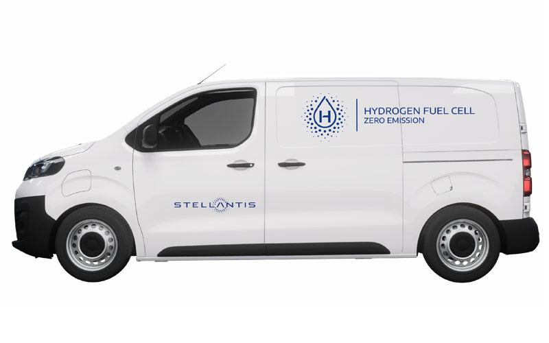 La imagen de un vehículo de pila de hidrógeno es similar a la de un eléctrico.